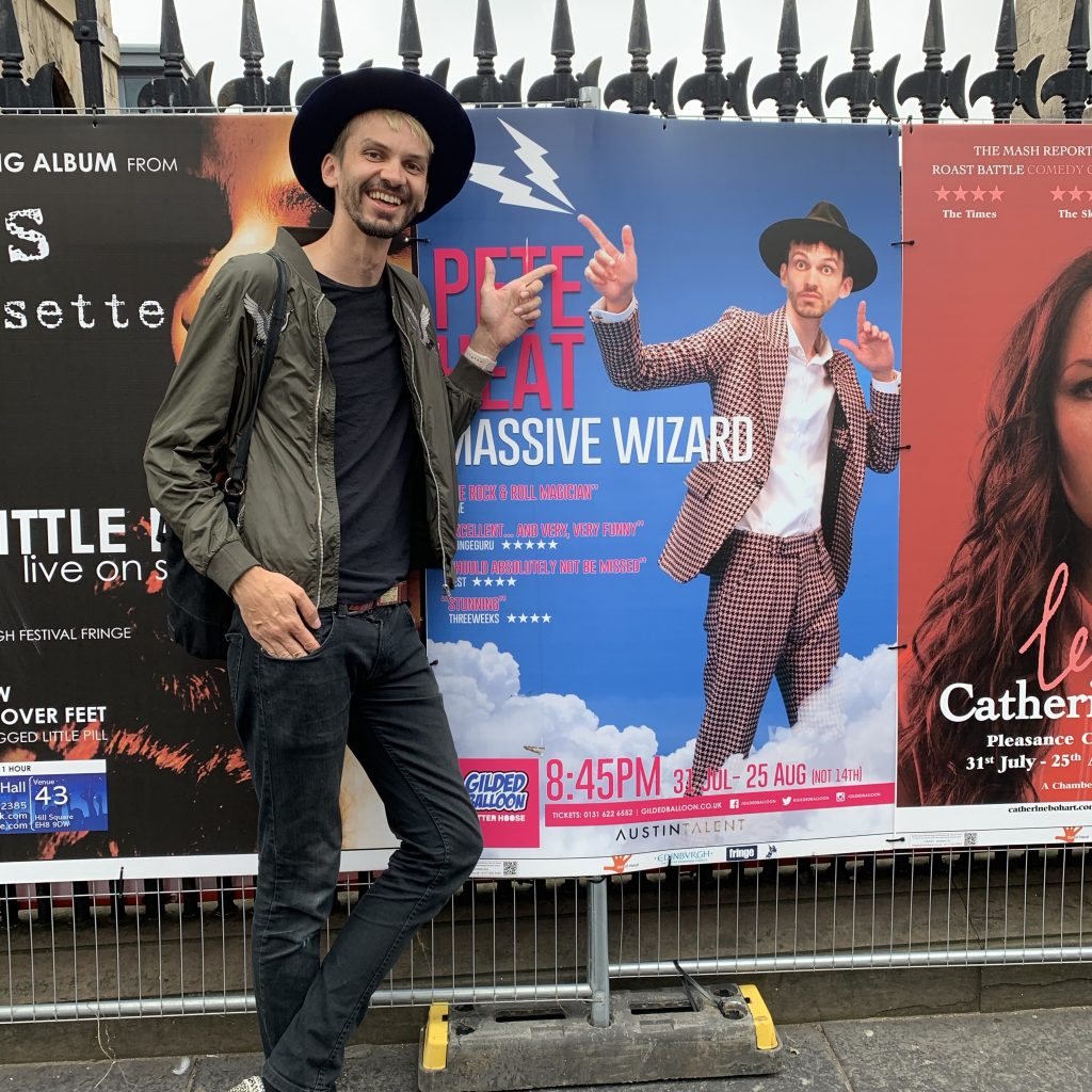 """Comedy magician at the Edinburgh Fringe with the show """"Massive Wizard"""""""
